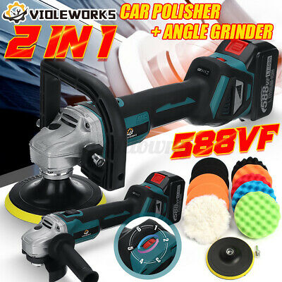 £59.99 • Buy 2 IN 1 12000 RPM Cordless Car Polisher & Angle Grinder For Makita 18V Battery