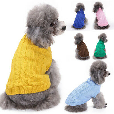 £7.88 • Buy Dog Jumper Knitted Pullover Winter Puppy Soft Warm Coat Outfits Pet Dogs Sweater