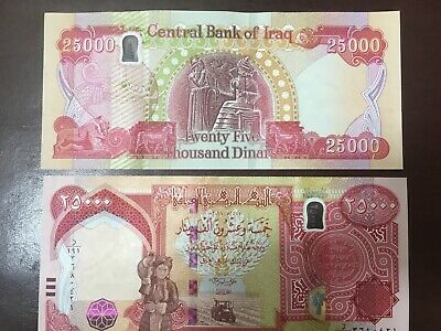 £27.49 • Buy 25000 Latest New Iraqi Dinars Uncirculated 2020 New Security Feature IRAQ DINAR