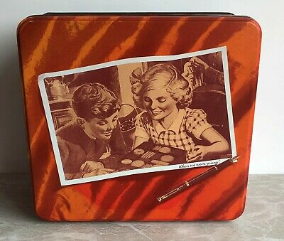 £6.99 • Buy Crawfords Collectable Biscuit Tin When We Were Young! Square Tin. 1990's.