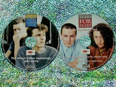 £10.90 • Buy TEARS FOR FEARS Music Video Collection 1981 To 2005 & Live Archives 2 DVD Set