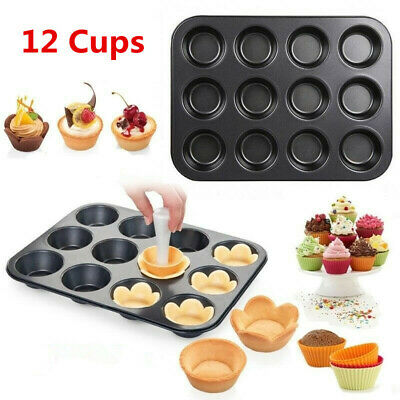 £7.99 • Buy Non Stick 12 Cups Cupcake Fairy Baking Tray Pan Tin Cup Cake Yorkshire Muffin