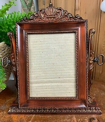 £24.99 • Buy Vintage Baroque Rococo Style Ornate Dark Mahogany Wood Easel Picture Photo Frame