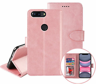 AU10.45 • Buy Oneplus 5T Wallet Case Cowhide Finish Pu Leather Magnet Card Slots Rosegold