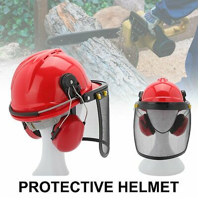 £12.99 • Buy Professional Chainsaw Helmet With Ear Defenders Mesh Visor Free Safety