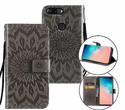 AU10.95 • Buy Oneplus 5T Wallet Case Embossed Pu Leather Sunflower