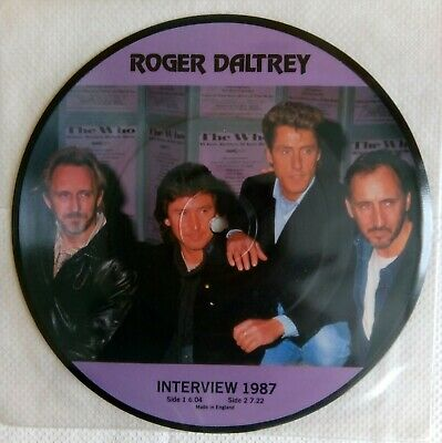 £12.99 • Buy The Who / Roger Daltrey Picture Disc Limited Edition Interview Single Vinyl.