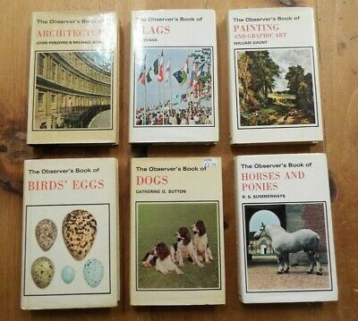 £15.50 • Buy Observers Books Job Lot Architecture Flags Painting Birds Eggs Dogs Horses