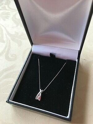 £29.99 • Buy 9CT WHITE GOLD Fine Trace16  CHAIN With PENDANT Not Boxed NOT SCRAP