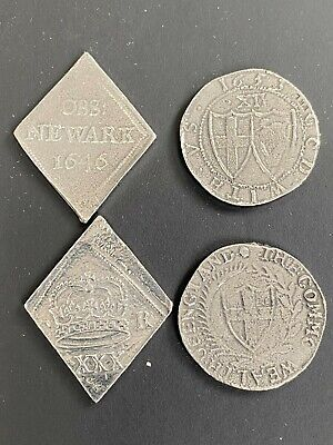 £9.99 • Buy Rare : Charles I Newark Siege Half Crown And Commonwealth Shilling Pair