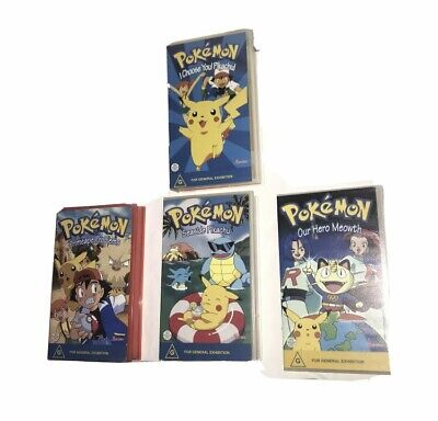 $40.56 • Buy Rare Pokemon VHS Bundle Including I Choose You Pikachu - All Yellow Tapes