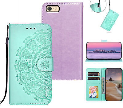 AU6.95 • Buy Oppo A39 A57 Embossed Pu Leather Wallet Case Mandala Totem