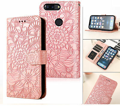 AU6.95 • Buy Oneplus 5T Embossed Pu Leather Wallet Case Floral