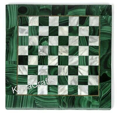 AU377.87 • Buy Green Marble Coffee Table Top Chess Design Sofa Side Table For Home 13 Inches