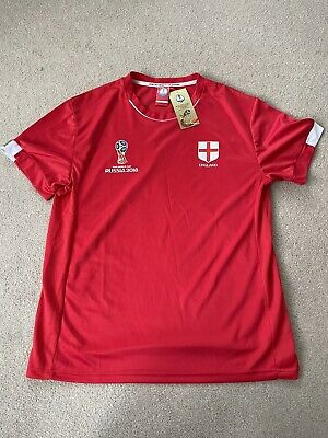£11.99 • Buy WORLD CUP RUSSIA 2018 ENGLAND Shirt RED AWAY SIZE L Official Licensed Product