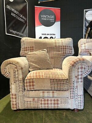 £40 • Buy Can Deliver Modern Designer Style Patchwork Tartan Style Chair