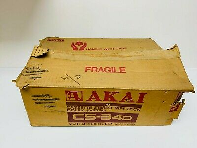 £125 • Buy Vintage Akai CS-34D Stereo Cassette Tape Deck ~ Working Boxed Manuals Top Loader