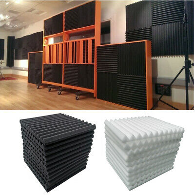 £10.95 • Buy Acoustic Foam Panel Wall Tiles Noise Sound Proofing Studio Insulation Absorption