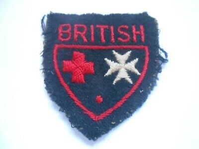 £28 • Buy Joint Medical Services  Red Cross St John    Cloth Formation Sign  Unit Patch