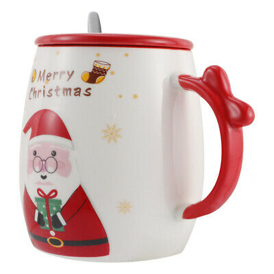£11.72 • Buy 1 Pc Ceramic Cup Coffee Mug Water Christmas Tea Cup (With Lid And Spoon)