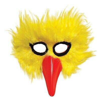 £5.30 • Buy Yellow Bird Feather Mask Animal Chick Masquerade Adult Fancy Dress Accessory