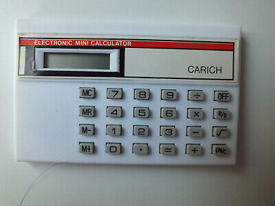 £4.99 • Buy 1980 Vintage Electronic Credit Card Mini Calculator 842 Carich White Promotional