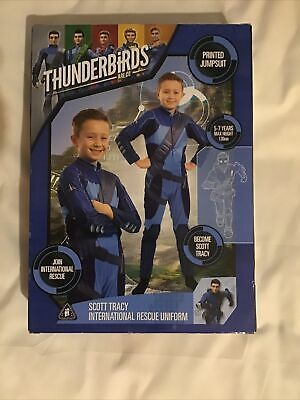 £7.99 • Buy Thunderbirds Scott Tracy Printed Jumpsuit 5 - 7 Years Dress Up Outfit