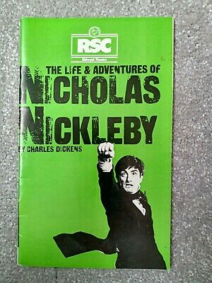£5 • Buy RSC Aldwych Theatre - The Life & Adventures Of Nicholas Nickleby 1980