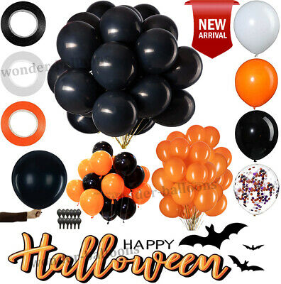 £5.49 • Buy 100 Latex Balloons Orange And Black For Halloween Decoration Balloons Quality UK