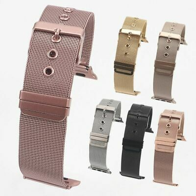 AU21.29 • Buy Milanese Loop Band For Apple Watch 42mm 38mm Link Bracelet Strap With Adapter
