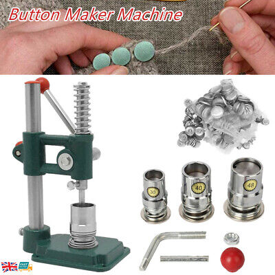 £59 • Buy 18/25/30mm Badge Maker Machine Manual Fabric Covered Button Mold Press Tool DIY