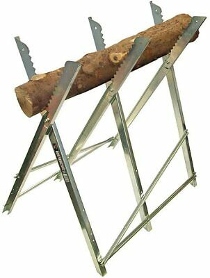 £29.98 • Buy Log Folding Saw Horse Holder Timber Firewood Cutting Chainsaw Trestle Metal NEW
