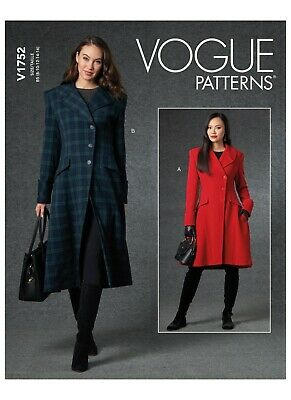 £9.65 • Buy Vogue SEWING PATTERN V1752 Misses' Fitted Coat Sizes 8-16 Or 16-24