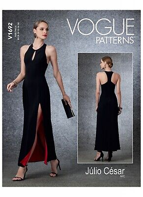 £10.40 • Buy Vogue Easy SEWING PATTERN V1692 Misses Evening/Occasion Dress 8-16 Or 16-24
