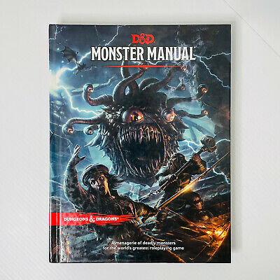AU60 • Buy D&D Monster Manual - Hard Cover 5th Edition Book - Dungeons And Dragons
