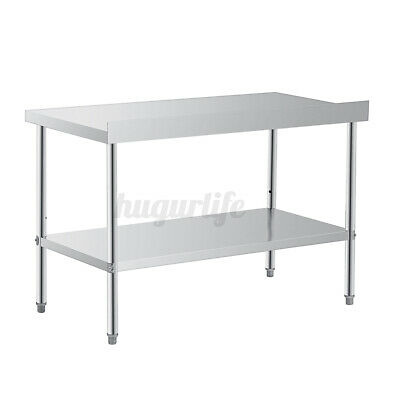 £92.99 • Buy 150CM Kitchen Food Work Stainless Steel Table Bench Commercial Top Various Width
