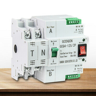 £37 • Buy 2P 100A/63A Dual Power Automatic Transfer Switch Generator Changeover Switch UK