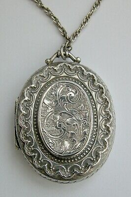 £33 • Buy Lovely Victorian Solid Silver Photo Locket 1881