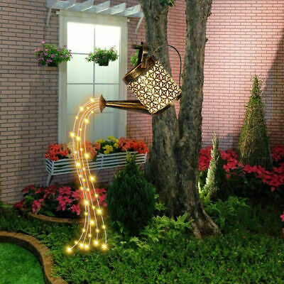 £15.99 • Buy Solar Powered Garden Watering Can LED String Light Outdoor Art Lamp Decor Hollow