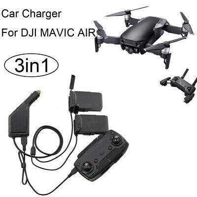 AU33.29 • Buy 3in1 Car Charger Adapter For DJI Mavic Air Remote Control & Battery Charging Hub