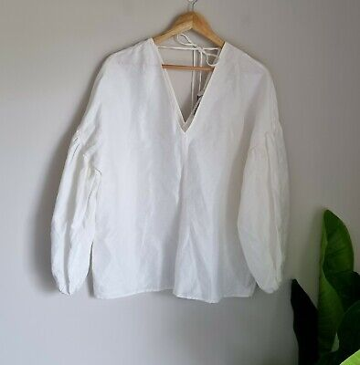 AU45.99 • Buy Country Road V-Neck Tie Blouse Size 12 Fits Size 12-14, White BNWT RRP $159