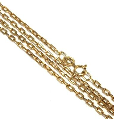 £71.99 • Buy .375 9ct YELLOW GOLD Filed Trace Cable Chain Necklace, 26.4  4.85g - W10