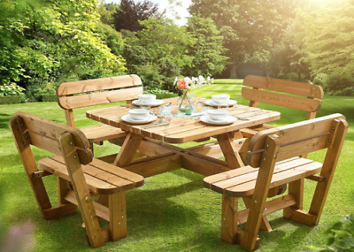 £739.99 • Buy  Brand New Anchor Fast 8 Seater Pine Wood Picnic Bench