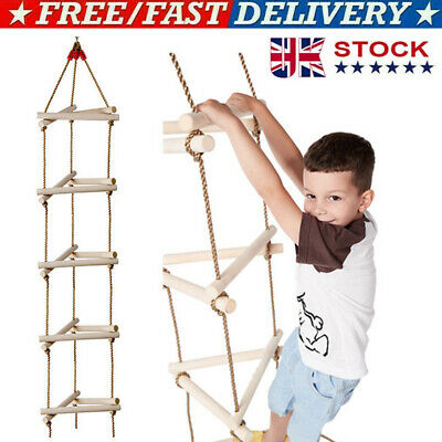 £21.79 • Buy Kids Climbing Frame Rope Ladders Outdoor Toys Wooden Playhouse Slide Accessories