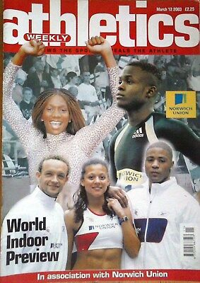 £1.25 • Buy March 12 2003 Athletics Weekly - World Championships Preview