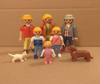 £9.99 • Buy Playmobil Families Figures: Large Family With Granddad & Pets