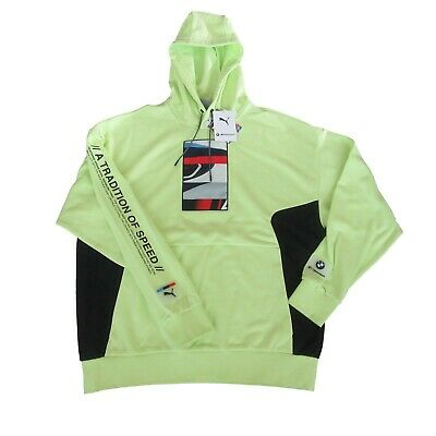 £47.25 • Buy BMW M Motorsport Street Graphic Pullover Hoodie Soft Yellow Size Large Mens NEW