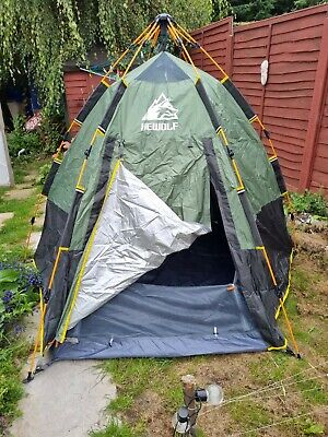 £40 • Buy HEWOLF Pop Up Tent For 3 To 4 Person Automatic Opening Hexangular Popup New