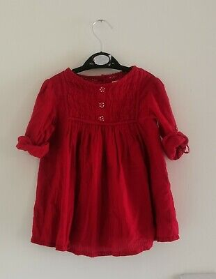 £1.50 • Buy 🌸 Build A Bundle 🌸 Baby Girl 12-18 Months Long Sleeve Red Blouse Dress 🌸