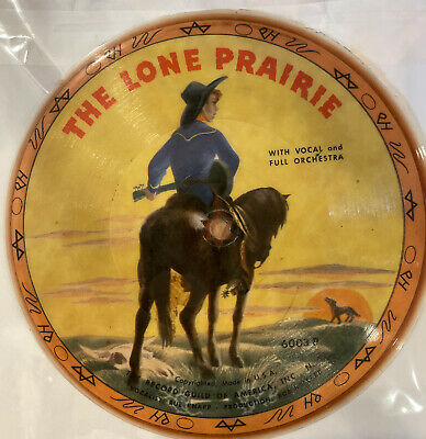 """£3.64 • Buy The Lone Prairie/Old Chisholm Trail Record Guild Of America 6.5"""" Picture Disc"""